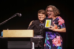 I'm pretty crazy about Jen Currin, who presented the award with a very generous intro.
