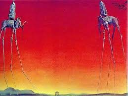 Elephants 1948 by Dali