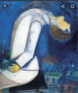 Marc Chagall.L'Homme À La Tète Renversée